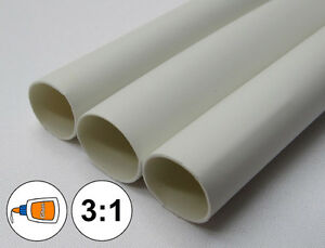 "(1 FOOT) 1/2"" White Heat Shrink Tube 3:1 Dual Wall Adhesive Glue Marine/to 0.5"""