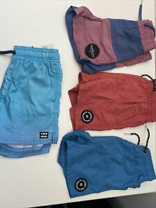 Boys Billabong Shorts Size 4 X4 Pairs