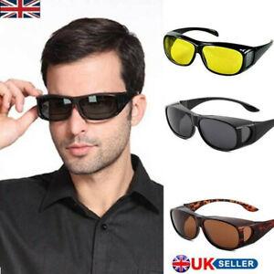 Mens Womens Wrap Around Fit-Over Sunglasses over Prescription Glasses