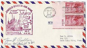 1948 US FFC AM 90 Segment 2, Mitchell SD to Omaha- w/ 985 GAR Plate #