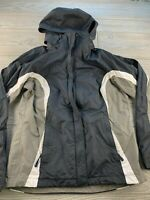 *Women's Columbia Omni Shield Windbreaker Jacket Size Small Black/grey Hooded