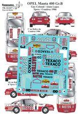 Transkit 1/24 OPEL MANTA 400 Gr.B YPRES/CONDROZ 1986 Renaissance TK24/447