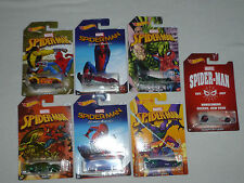 HOTWHEELS SPIDERMAN CAR SET 6 + CHASE HOMECOMING MARVEL JADED SCOOPA TEEGRAY MOC