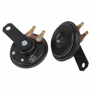 2X Car Black Super Loud Grille Mount Compact Electric Horn Kit For 12V 120DB