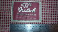 1950s HOLLAND BEER LABEL, GROLSCHE BIERBROUWERIJ ENSCHEDE NETHERLANDS, MUNCHENER