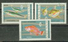 Vietnam Briefmarken 1967 Fische Mi.Nr.487, 489+490