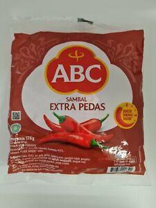 ABC Sambal Extra Hot Chili Sauce Extra Pedas 22 Sachets @8g Free Delivery