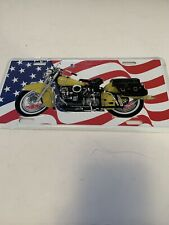 MOTORCYCLE  PATRIOTIC LICENSE PLATE, NEW OLD STOCK PRIOR TO 2005