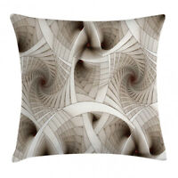 Fractal Throw Pillow Case Abstract Digital Style Square Cushion Cover 20 Inches
