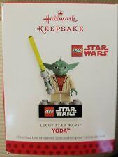 Yoda 2013 Hallmark Christmas Ornament LEGO Star Wars Jedi Knight Light Saber NIB