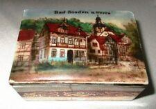Andenken Dose Porzellan Dose Pillendose Bad Sooden a. Werra um 1910