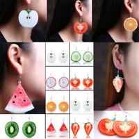 Fashion Large Fruit Strawberry Pineapple Drop Dangle Hook Women Earrings Jewelry