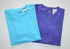 New Men's Polo Ralph Lauren Lot of 2 T-shirt, Blue, Purple, L, Large