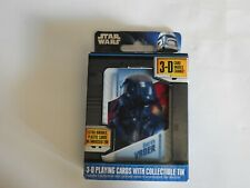 Star Wars 3-D First Deck Playing Cards With Embossed Tin NEW NEVER OPENED
