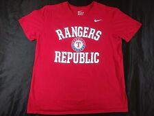 The Nike Tee Texas Rangers Republic Baseball Mlb Graphic T-Shirt Mens Sz L Red