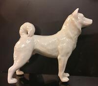 9942902-ds Porzellan Figur Hund Husky weiß Wagner & Apel 17x5x15cm