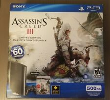 Playstation 3 Assassin's Creed III Edition Console Bundle NEW Fast Shipping