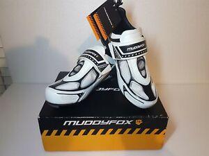 Muddyfox Tri 100 White Black UK Junior Size 4 Cycle Shoes, Cycling , Unissex