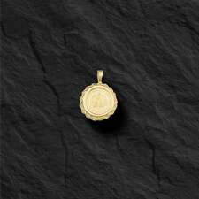 14K Gold 17MM COIN PENDANT with a 22K MEXICAN DOS PESOS Coin