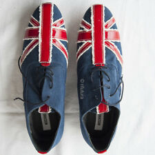 Scarpe Uomo MOSCHINO n43 Bandiera Union Jack Britain Rock Pop (newprice400€)-1NU