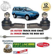 FOR HONDA HRV HR-V 1.6 1999-2006 2x INNER + 2x OUTER TRACK RACK TIE ROD END SET
