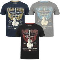 Mens Tokyo Laundry t-shirt Short Sleeved Tee Top Guitar Rock USA Cotton FESTIVAL