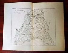 1897 USGS Hydrographic Station Virginia Drainage Map