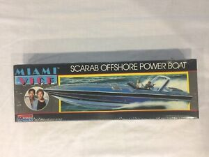 Monogram 80's Scarab Miami Vice Offshore Powerboat Still In Original Plastic