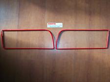Cornici rosse mascherina Lancia Delta Evoluzione profili calandra HF integrale
