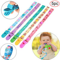 5X Pacifier Clip Baby Teething Toy Holder Anti-lost Baby Shower Gift Boys Girls