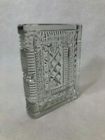 """Waterford Crystal """"Walden"""" Bookend, 6 1/2"""" Tall x 4 3/4"""" Wide x 1 1/8"""" Deep"""
