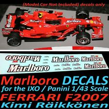 Formula F1 Car Collection water slide DECALS - Marlboro Ferrari F2007 Raikkonen