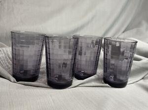 Circleware 6 oz juice glasses, purple, set of 4