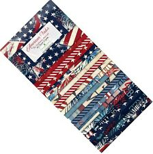 """American Valor 40pcs 2-1/2in 2.5"""" Strips Jelly Roll Rollup Fabric Q840-564"""