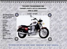 TRIUMPH THUNDERBIRD 900 PARTS MANUAL, ALL BIKES (95-03), A4 WIRE BOUND, QUALITY