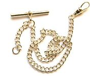 Solid Sterling Silver Albert Chain Fob-Pocket Watch-Made In England