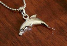 Hawaiian Genuine 925 Sterling Silver Hawaii Dolphin Pendant Necklace #SP29601