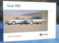 New Rare Original 1996 Saab 900 Handbook Owners Manual