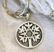 TREE OF LIFE STAR OF DAVID Pewter KEY CHAIN Key Ring