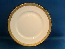 Richard Ginori Italian White & Gold Porcelain Luncheon Plate Gilt Ponte Vecchio