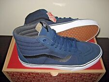 Vans Sk8-Hi Reissue Mens C&P Dress Blues Black Skate shoes Size 8 VN0004OKJUJ