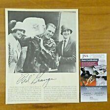 Red Grange Chicago Bears Football HOF Signed 7.5x9.75 Magazine Photo w/ JSA COA