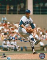Claude Osteen Autographed 8X10 Photo  LA Dodgers Pitching W/COA