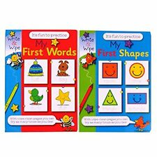 Write and Wipe - My First Shapes and My First Words books (set of 2 books)