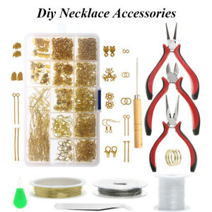 Jewelry Accessories Tool Pliers Needle Ring Buttons Jewellery Making Kit