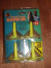 """Vintage~New On Card~Roland Martin~Helicopter Lure~Set Of Four~""""As Seen On Tv"""""""
