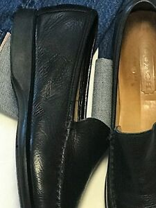 COACH MADE IN ITALY Mens LEATHER SHOE 9D BLACK LEATHER SLIP ON LOAFER