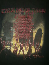 CANNIBAL CORPSE EVISCERATION PLAGUE CONCERT T SHIRT Cities Dates Venues 2-Sided