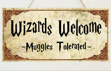 Los asistentes Bienvenido Placa Letrero Regalo-casa de sala de Harry Potter presentes
