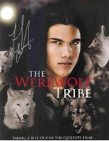 "TAYLOR LAUTNER Authentic Hand-Signed ""TWILIGHT - The Werewolf Tribe"" 8x10 Photo"